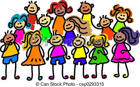 Crowd clipart group student Kids Crowd collection clipart Group