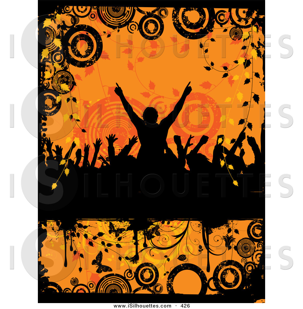 Crowd clipart abstract Silhouetted Silhouette a of the