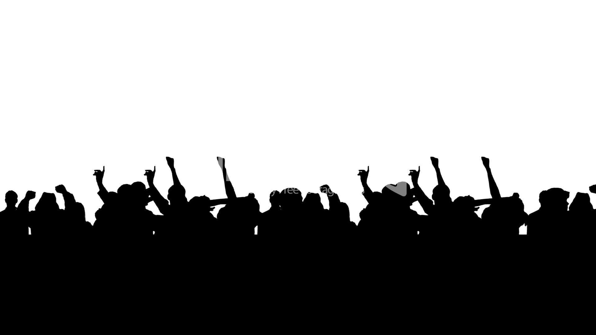 Crowd clipart hands Free Clapping Cheering collection crowd