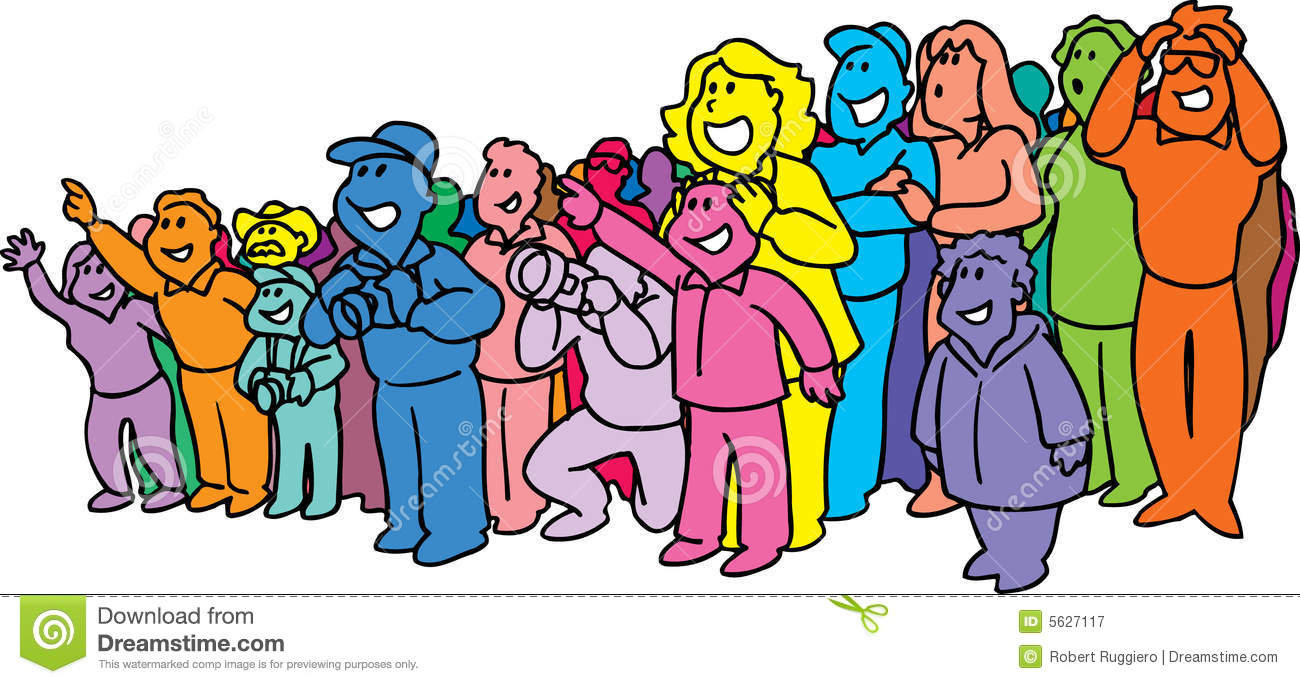 Crowd clipart abstract Happy Large Illustrations Crowd Stock