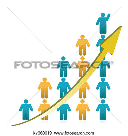 Crowd clipart human population Graph of Increase people collection