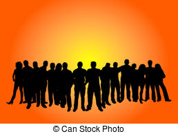 Crowd clipart large crowd Large vector EPS Stock Crowd