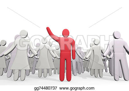 Crowd clipart leadership Before before of Drawing Man