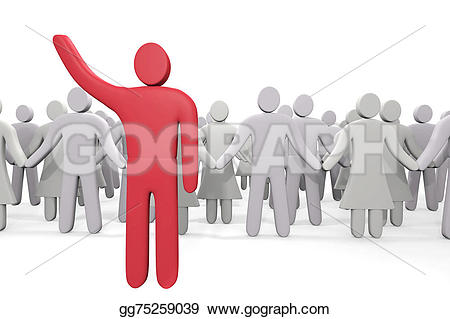 Crowd clipart leadership Stands of Man people Stock