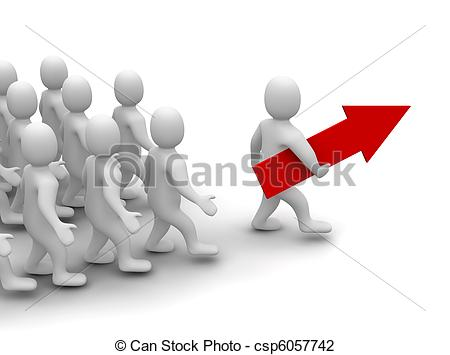 Crowd clipart leadership Way 3d Leader to rendered