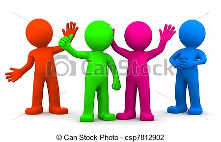 Crowd clipart main character Of on white of colorful