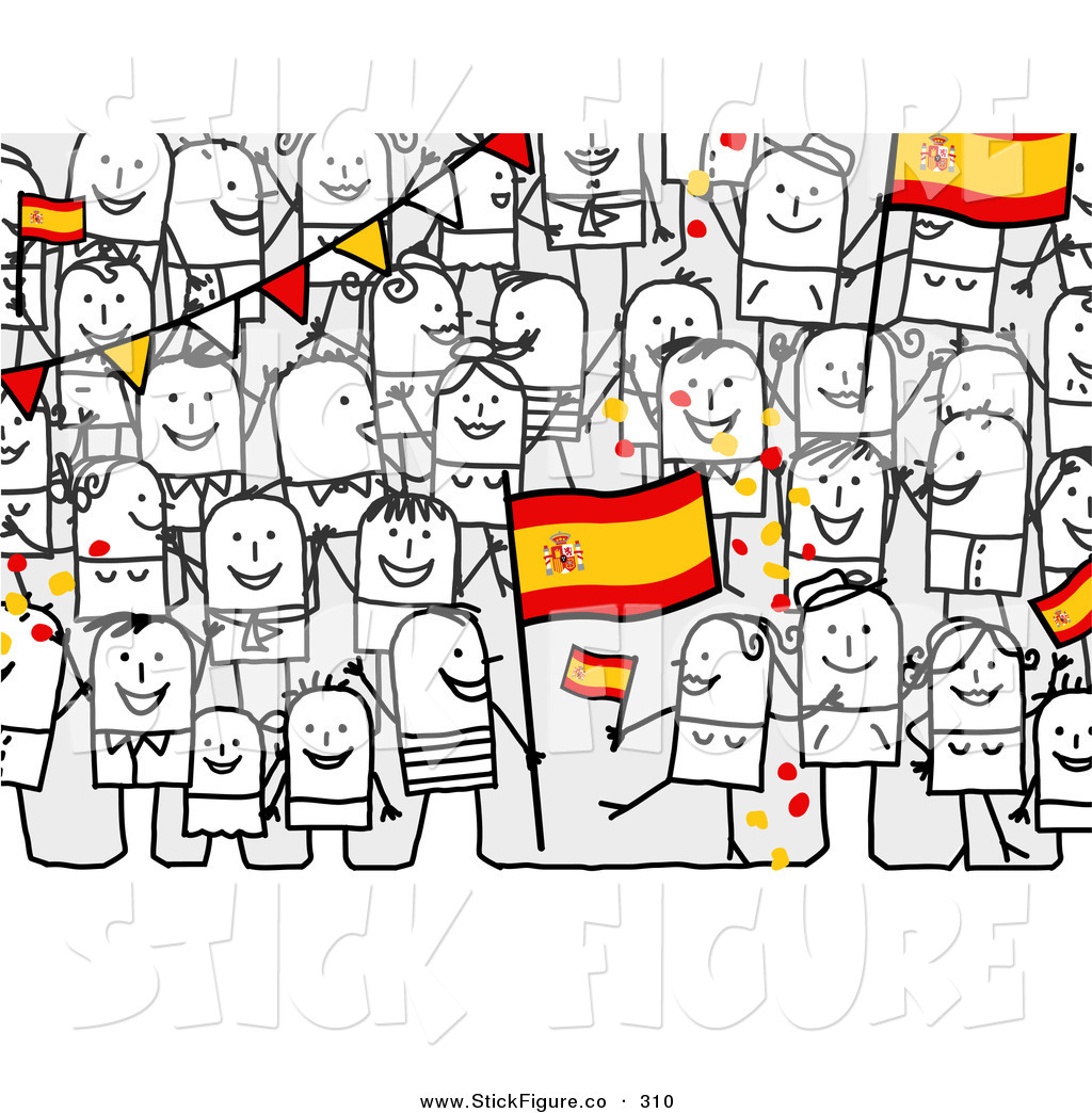 Crowd clipart main character Happy with of a People
