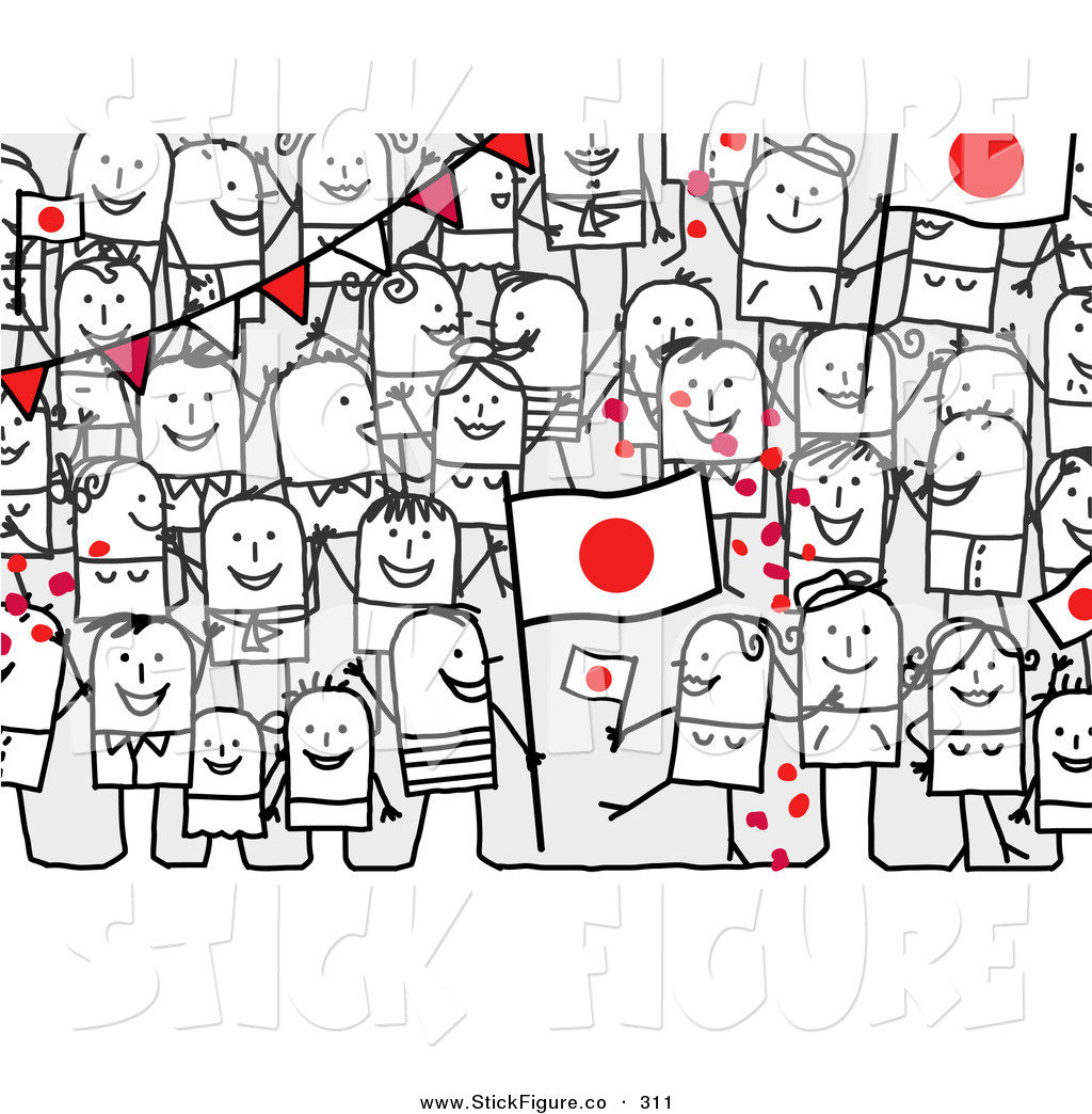 Crowd clipart main character Figure a a Crowd Characters