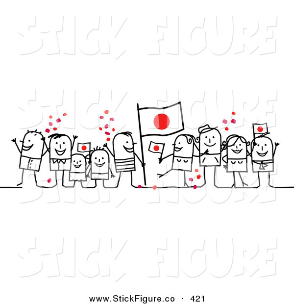 Crowd clipart main character People Japan of a Celebrating