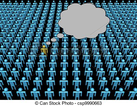 Crowd clipart person art Of crowd of Thoughts Illustration