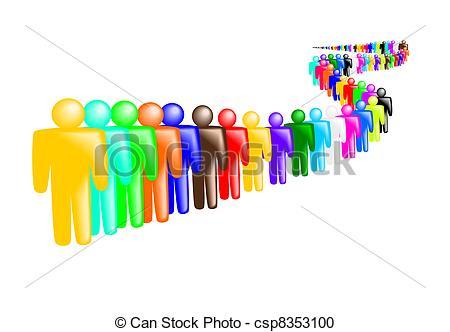 Crowd clipart queue Clipart of Vector Queue people