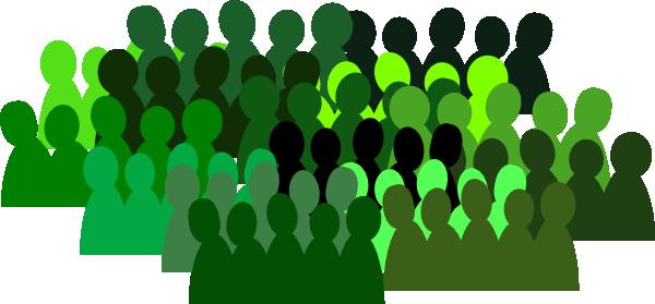 Crowd clipart small Online · Art medium Green