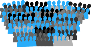 Crowd clipart small At online Art vector Clker