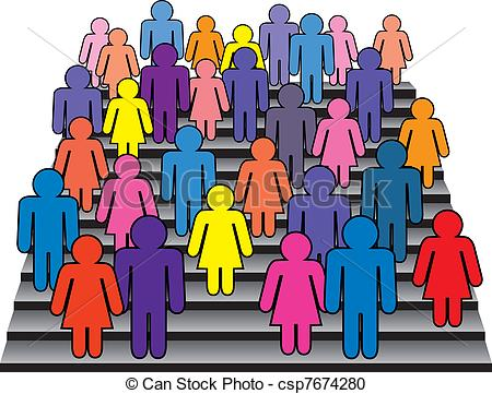 Stands clipart spectator Illustrations royalty and on women