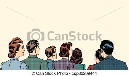 Stands clipart spectator Of back A back of
