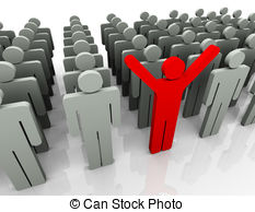 Crowd clipart diversity person The the of out Standing