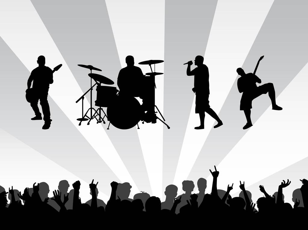 Crowd clipart summer concert Clipart Free Vectors Clip Art