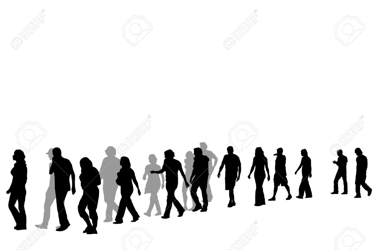 Crowd clipart walking Art people People – Clip