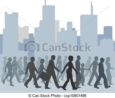 Crowd clipart walking People 681 EPS Stock Crowd