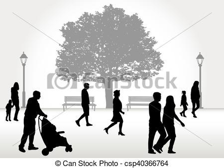 Crowd clipart walking Csp40366764 walking of Art of