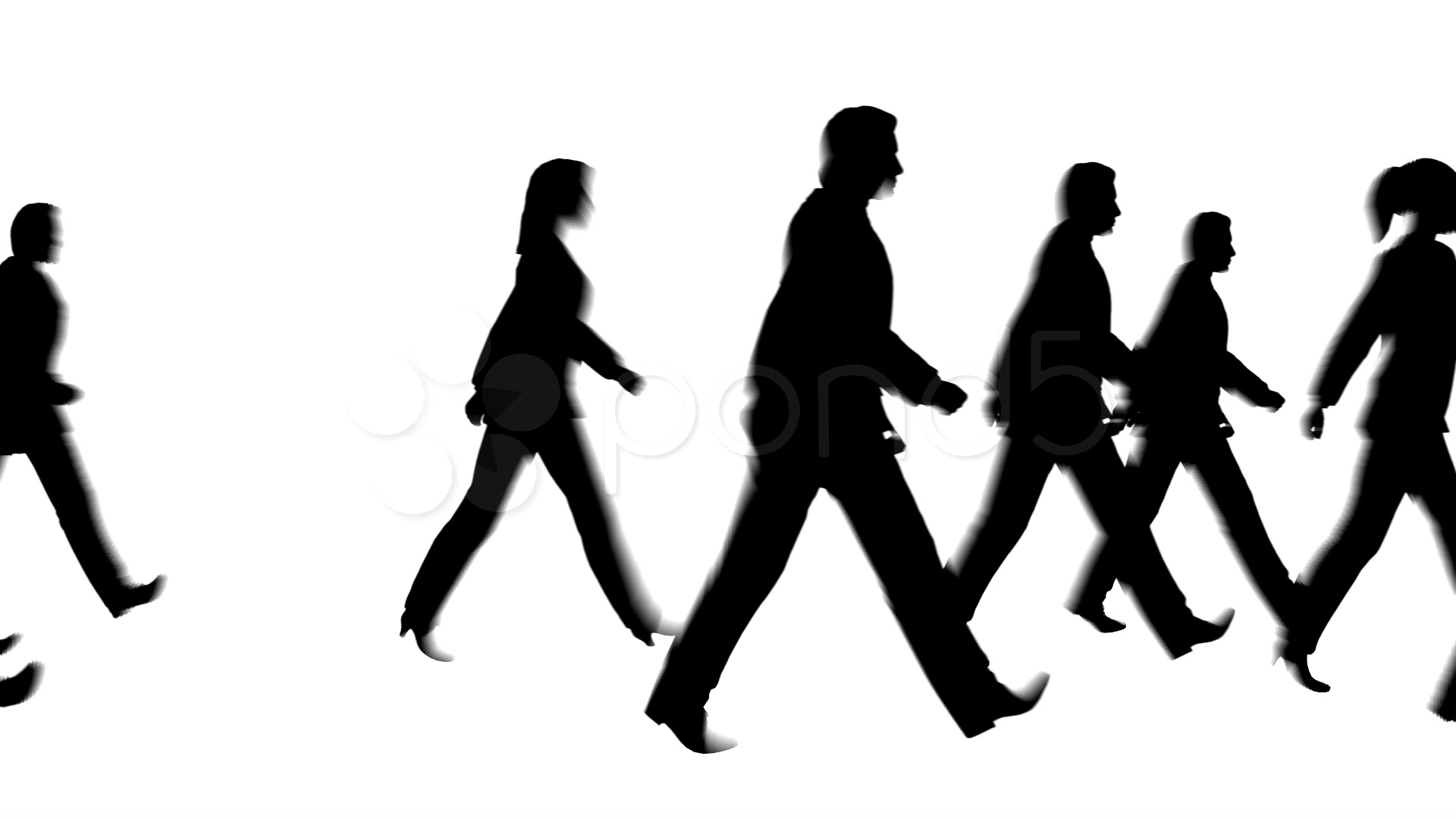 Crowd clipart walking People Free Clipart Silhouette Walking