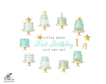Cake clipart turquoise Cake Etsy Birthday crown Baby