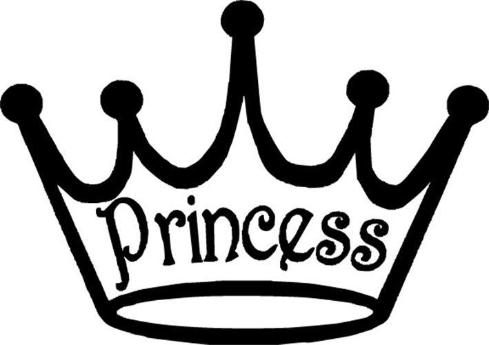 White clipart princess crown Black white crown clip black