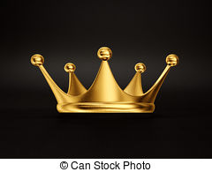Crown clipart black background  Crown on Illustrations