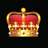 Crown clipart black background Black · Royalty Vector Background