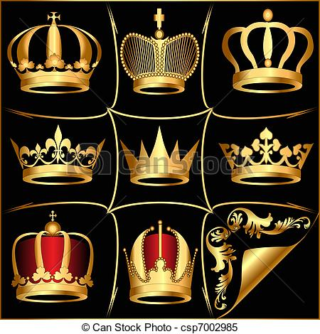 Crown clipart black background Of black on Vector on