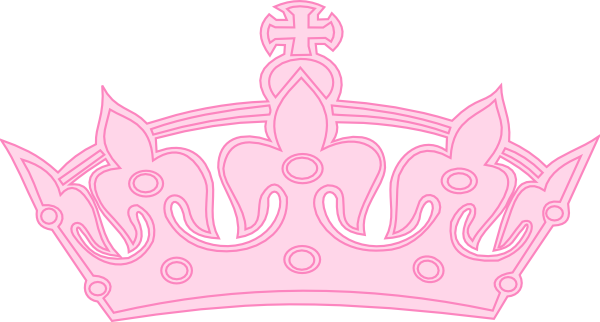Crown clipart black background At Pink clip Download Light