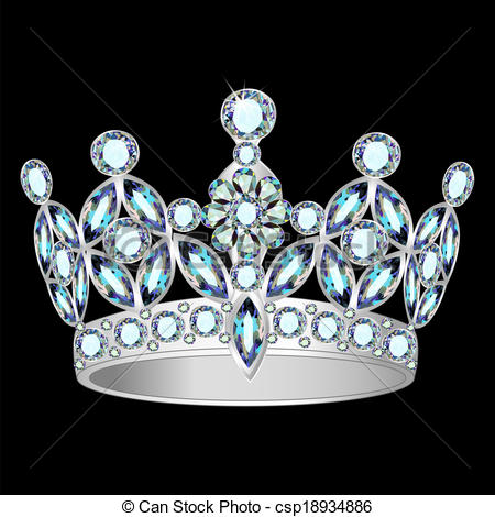 Crown clipart black background Of a on Vector on