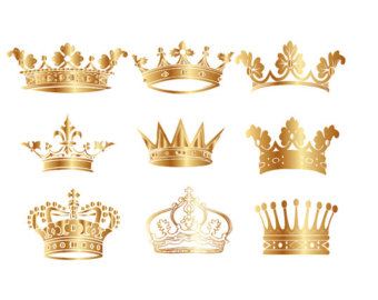 Crown clipart crown jewels  Clipart Digital Gold by