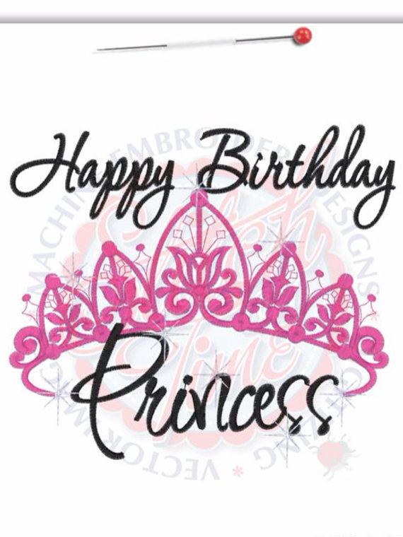 Crown clipart happy birthday Machine Embroidered  Machine Happy