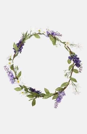 Drawn wreath floral garland #10