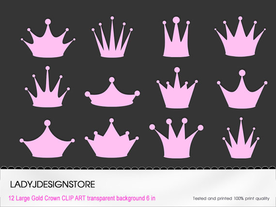 Pastel clipart princess tiara Crowns Etsy for Digital scrapbooking