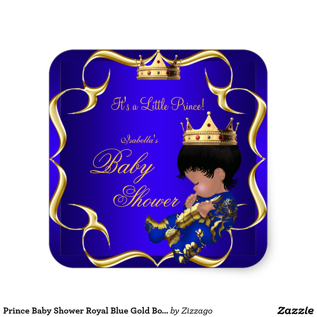 Boy clipart crown Gold Baby 3 Boy Square