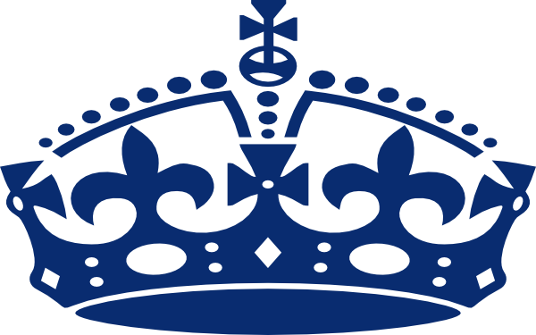 Blue clipart royal crown Blue clip Jubilee at Download