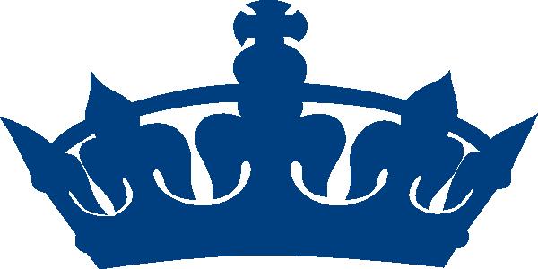 Dark Blue clipart crown Art Heart Blue  Blue