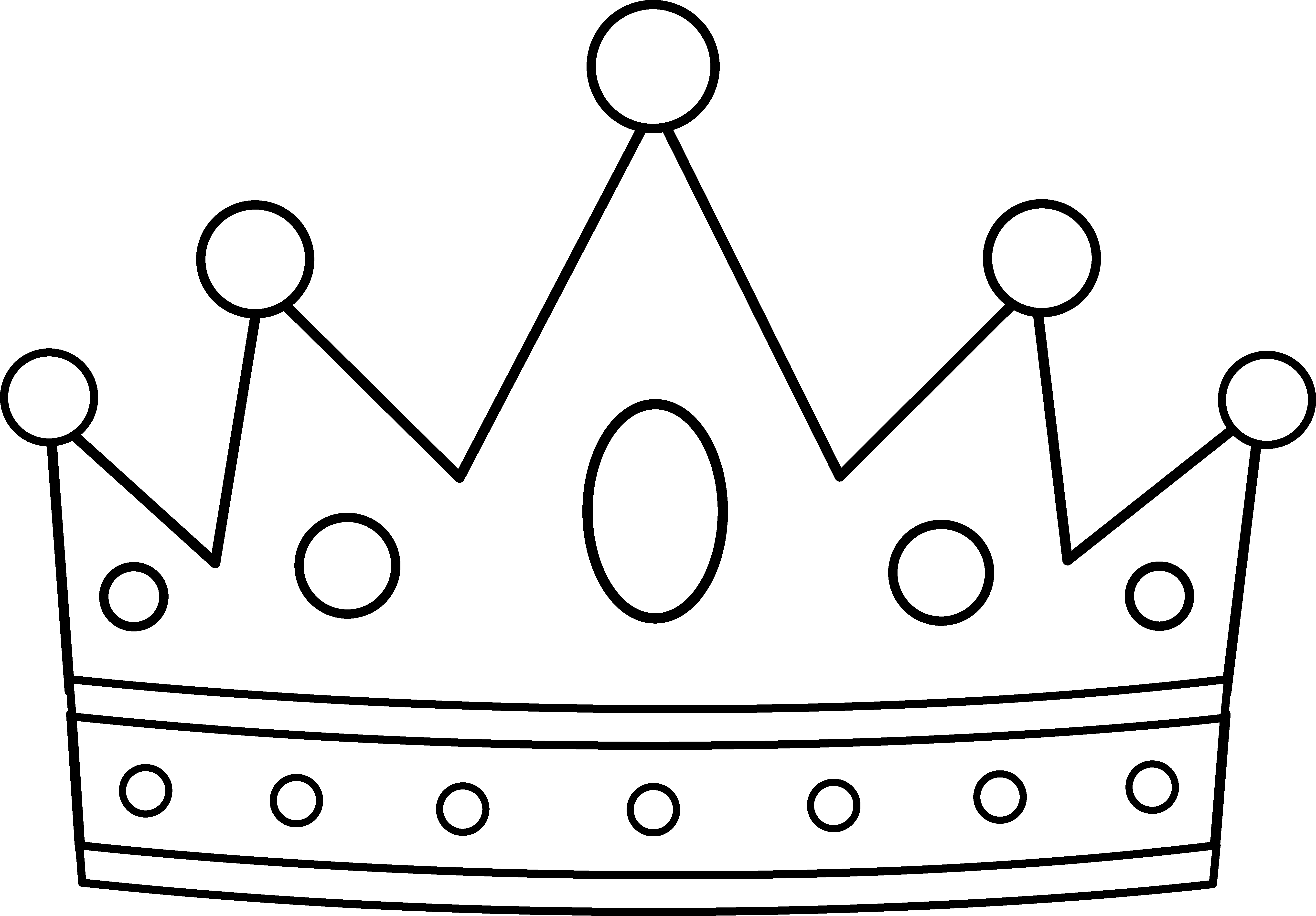 Crown clipart black background Clip and white King black
