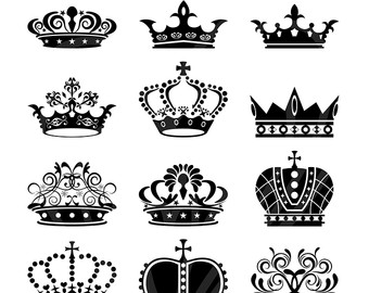 Calligraphy clipart classic Crowns Png Royal Digital Scrapbook