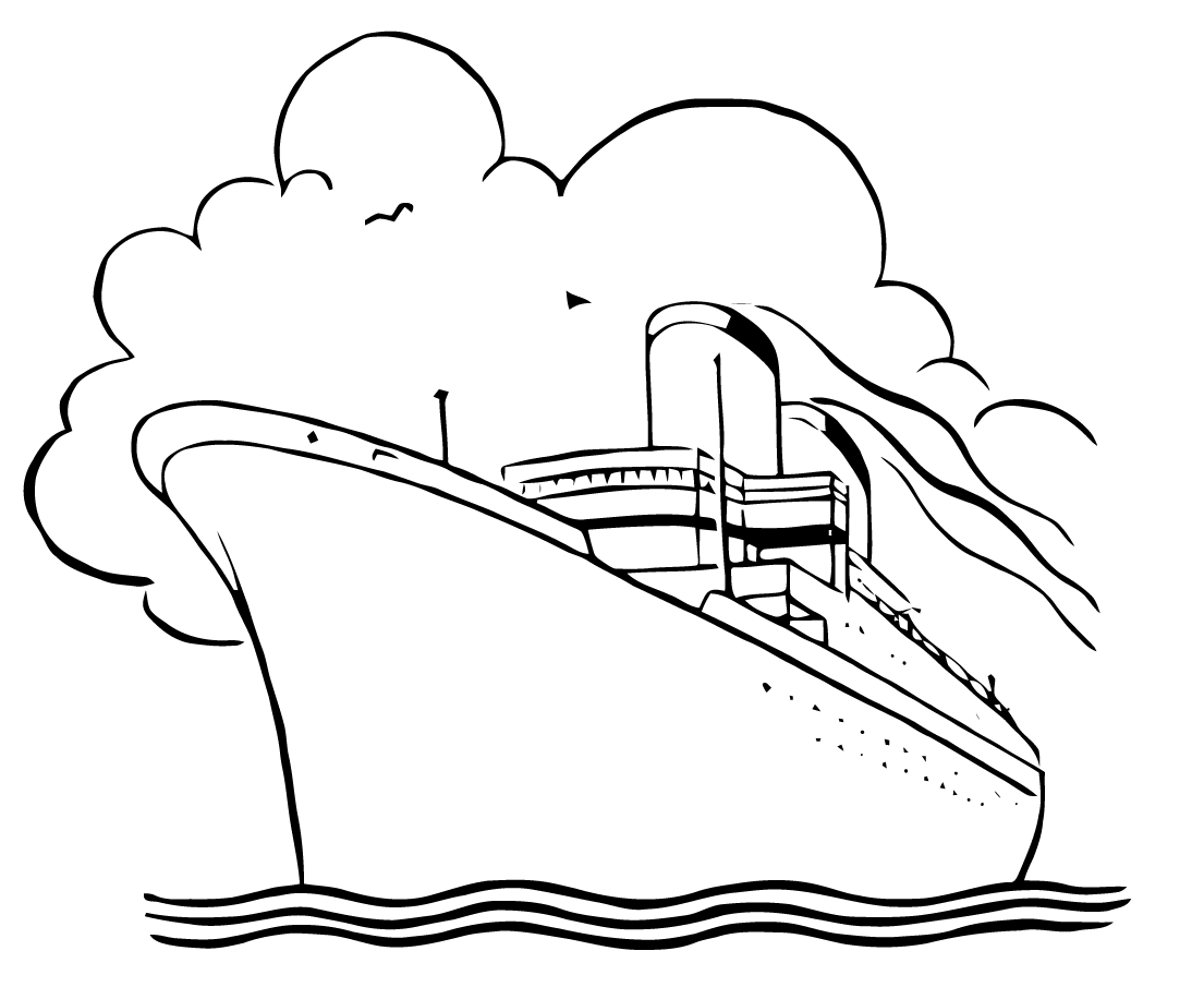 Cruise clipart black and white Clipartfox clipart and black Cruise
