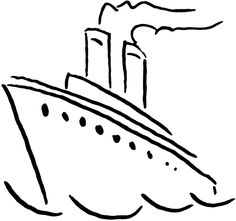Cruise clipart black and white  art Clip Ship World