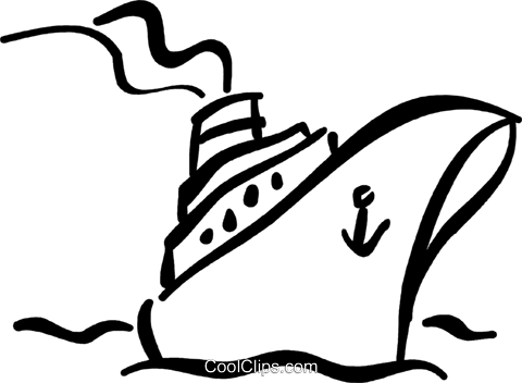 Cruise clipart black and white Com and black art clip