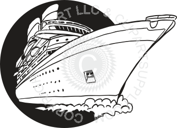 Cruise clipart black and white Black in Cruise Ship and