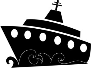 Cruise clipart black and white Black Ship  And White