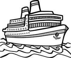 Cruise clipart black and white Art clip Cruise Ship collection