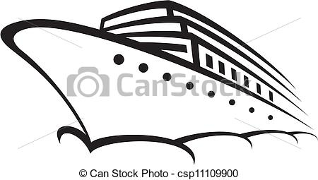 Cruise clipart black and white Vector EPS Illustrations (ocean ship)