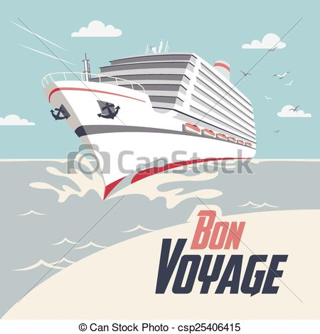 Cruise clipart bon voyage Illustration Voyage Illustration Art Cruise
