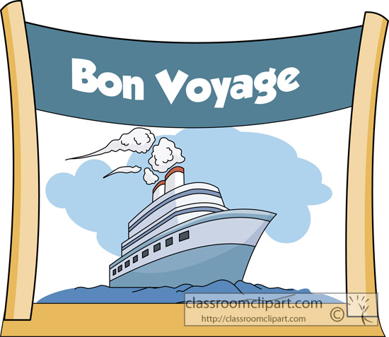 Cruise clipart bon voyage Art Clip free Ship bon